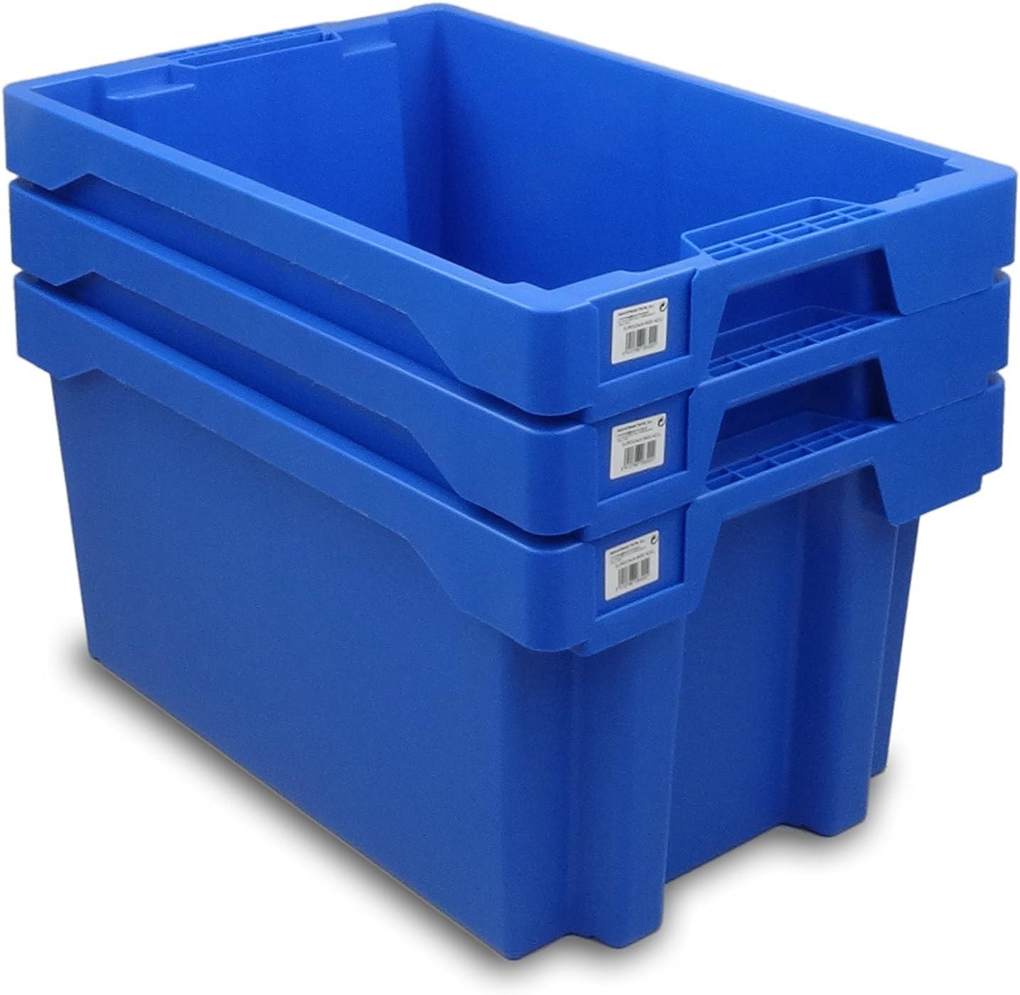 Tayg Euro-caja para almacén y transporte 6430, Azul, 600 x 400 x ...