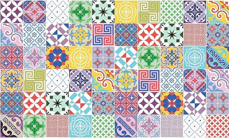 Carreaux De Ciment Adhésif Mural Azulejos 15 X 15 Cm 60pièces