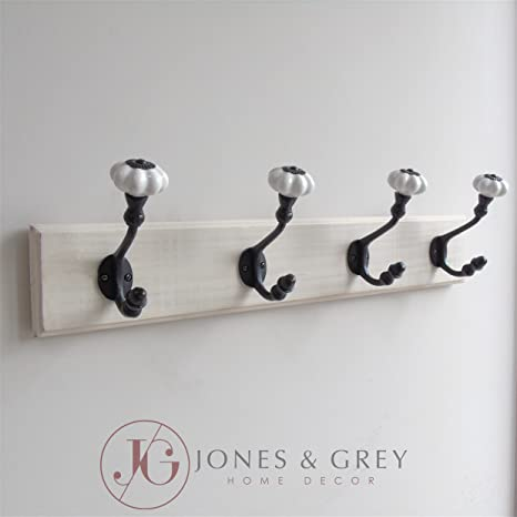 Jones & Grey Shabby Chic Blanco Envejecido Gancho de Pared ...