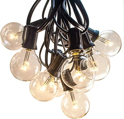 Hometown Evolution, Inc. 100 FT Outdoor LED String Lights – G40 LED Globe Bulbs Black Wire – LED Outdoor String Lights for Patio Cafe Deck Party and Backyard Lighting