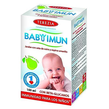 BABY IMUN – JARABE CON SETA DE OSTRA Y ESPINO AMARILLO, sabor a pera,