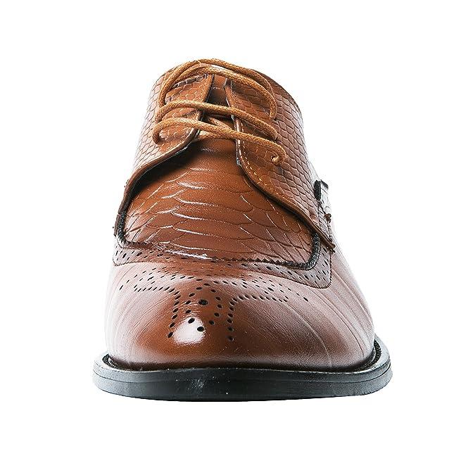 Herren Oxford Derby Schuhe Schnürhalbschuhe Trachtenmoden Haferlschuh Brogue Modische Schuh Männer Schwarz 44 EU gAQBXB7E39