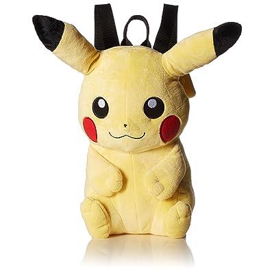 Pokemon Boys' Pikachu Plush Backpack, Yellow   Kids' Backpacks