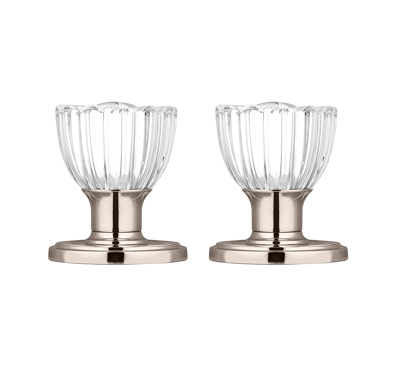 AMG and Enchante Accessories Classic Tulip Crystal Door Knobs with Lock DK08R-PR BRZ Decor Living Venetian Bronze Athena Collection Privacy Function for Bed and Bath