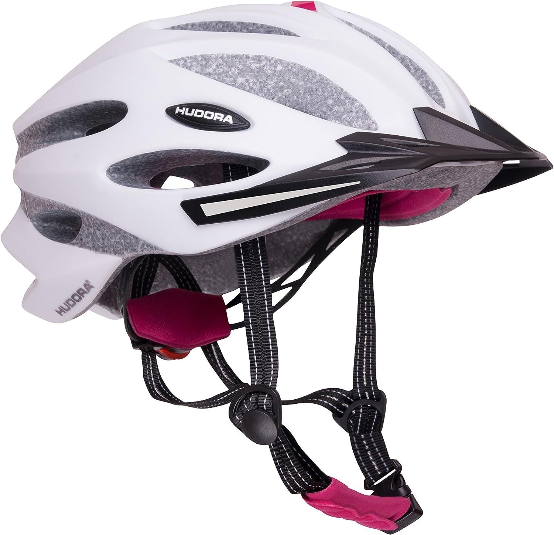 grau//fuchsie 55-61 Fahrrad-Helm Rad-Helm Gr HUDORA Fahrradhelm Granit Damen Herren