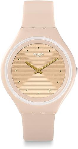 Swatch Reloj Digital de Cuarzo para Mujer con Correa de Silicona - SVUT100: Amazon.es: Relojes