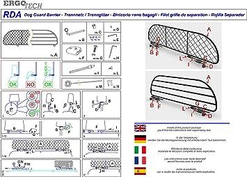 Ergotech Trennnetz Trenngitter Kompatibel Mit Opel Crossland X 2017 2020 Crossland Ab Bj 2021 Rda65 Xs Für Hunde Und Gepäck Auto