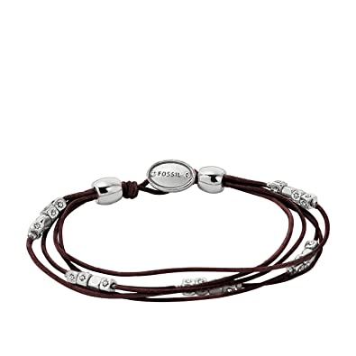 Fossil Women's Brown white Bracelet JA6068040 vAtuok