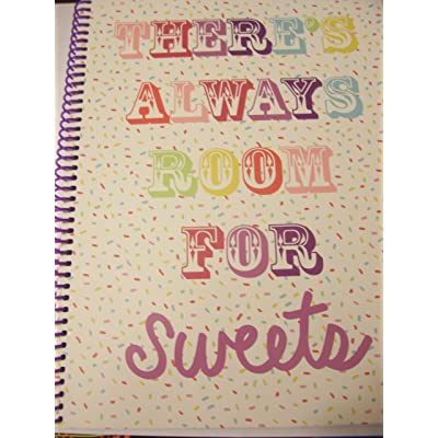 "Top Flight Wide Ruled Spiral Notebook ~ There's Always Room for Sweets (70 Sheets, 140 Pages8"" x 10.5""): Toys & Games"