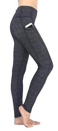 Neonysweets Femme Legging Longue Pantalon Sport avec Poche Yoga  Entraînement Taille Normale (S 93d79a5d7c7