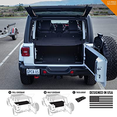 GPCA Cargo Cover LITE for Jeep Wrangler JL 4DR Sports/Sahara/Freedom/Rubicon Unlimited 2020-2020 Model (Under Hardtop) (Under SoftTop): Automotive
