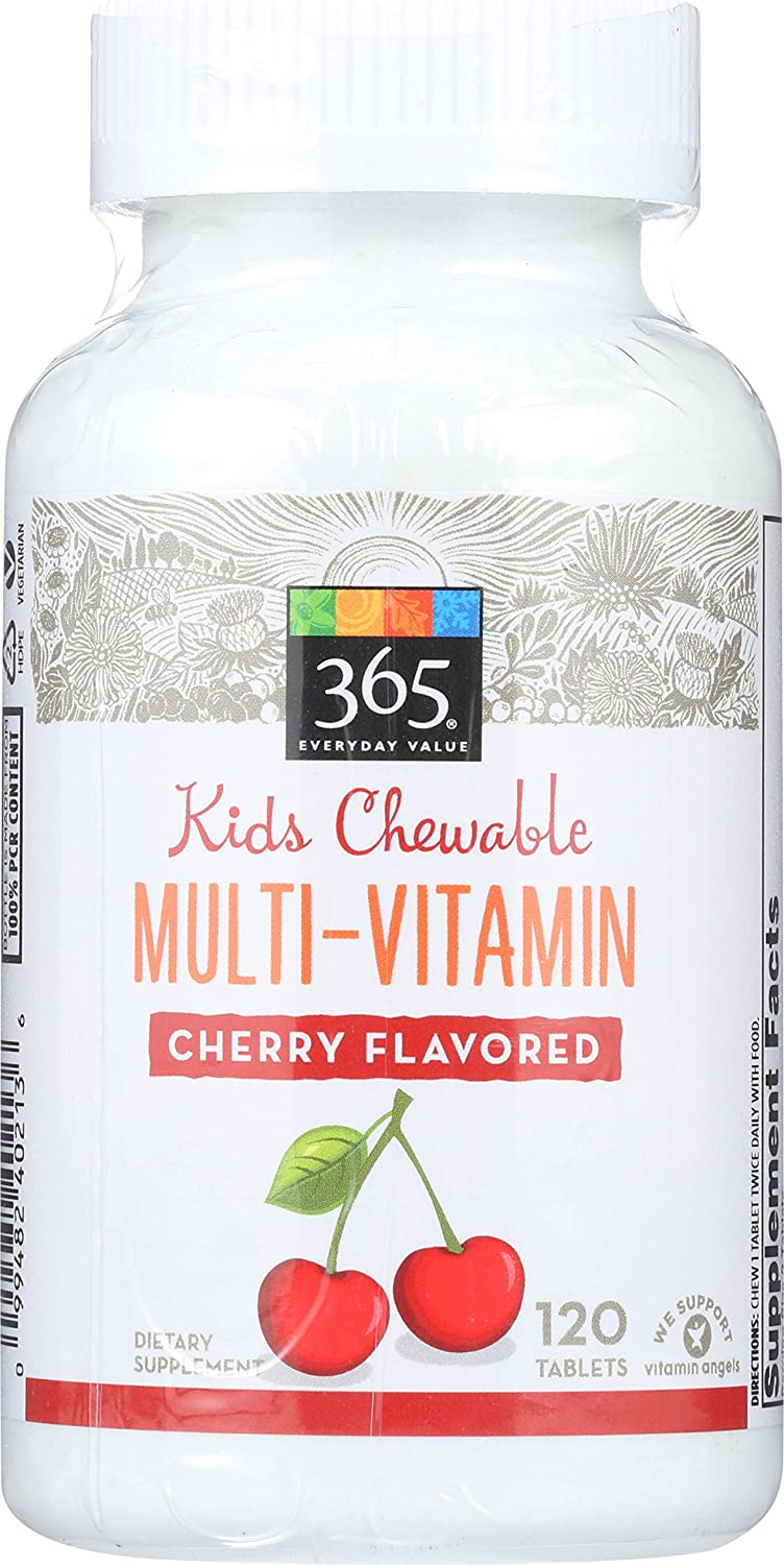 365 Everyday Value, Kids Chewable Multi-Vitamin, Cherry Flavored, 120 ct