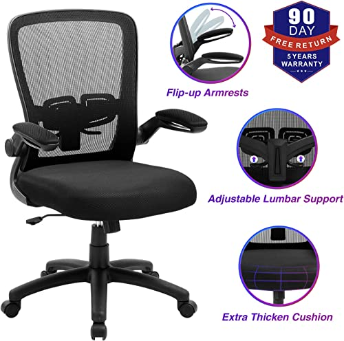 ZLHECTO Ergonomic Desk Chair with Adjustable Height and Lumbar Support