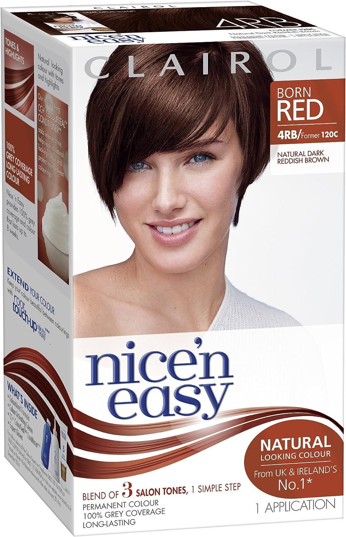 Clairol Nicen Easy Coloración Permanente, 4RB Marrón Rojizo ...