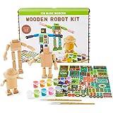 Wood Crafts for Kids - Kid Made Modern Wooden Robot Craft Kit - Kids Arts & Crafts Toys