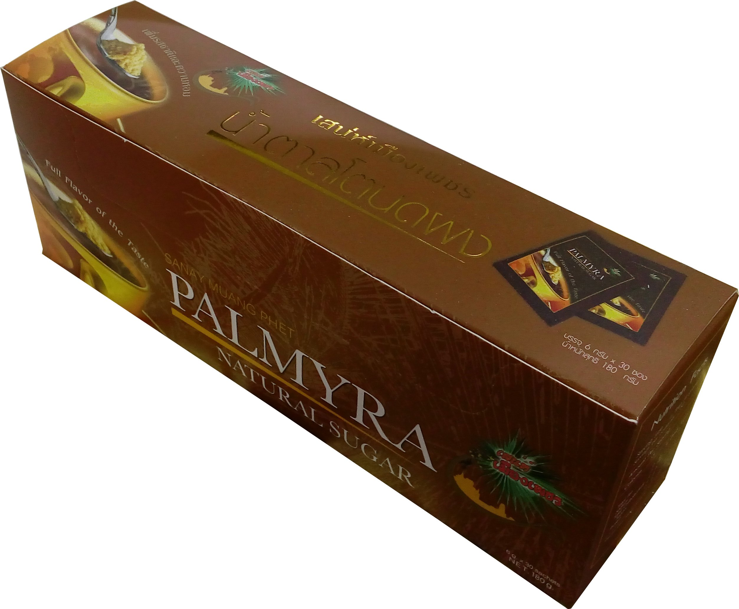 Sanay Muang Phet Palmera Jaggery Powder 6.34 Oz./30 Sachets