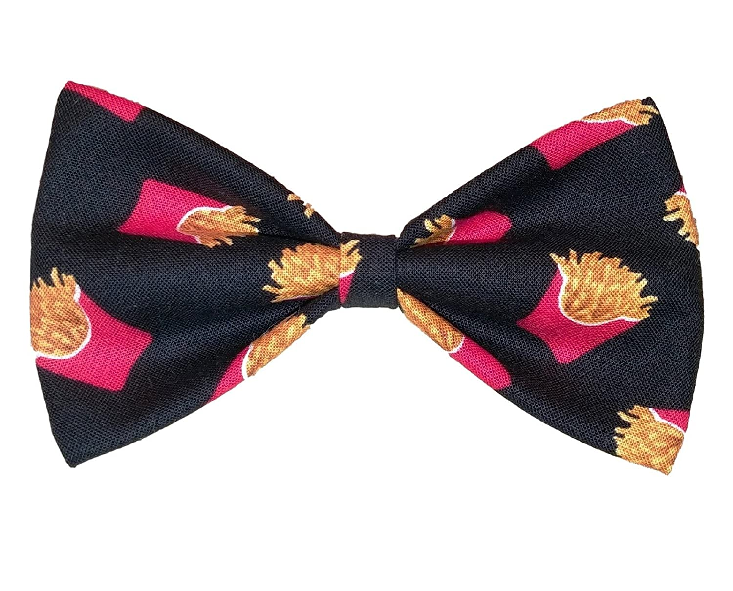 French Fries Bow Tie - Clip on Bowtie