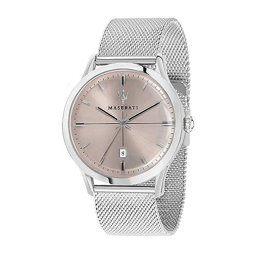 MASERATI Reloj Analógico para Hombre de Cuarzo con Correa en Acero Inoxidable R8853125004: Amazon.es: Relojes