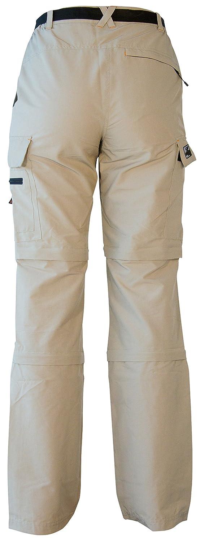 Pantalones de Trekking y Senderismo para Mujer DEPROC active Kenora Desmontables con Doble Cremallera