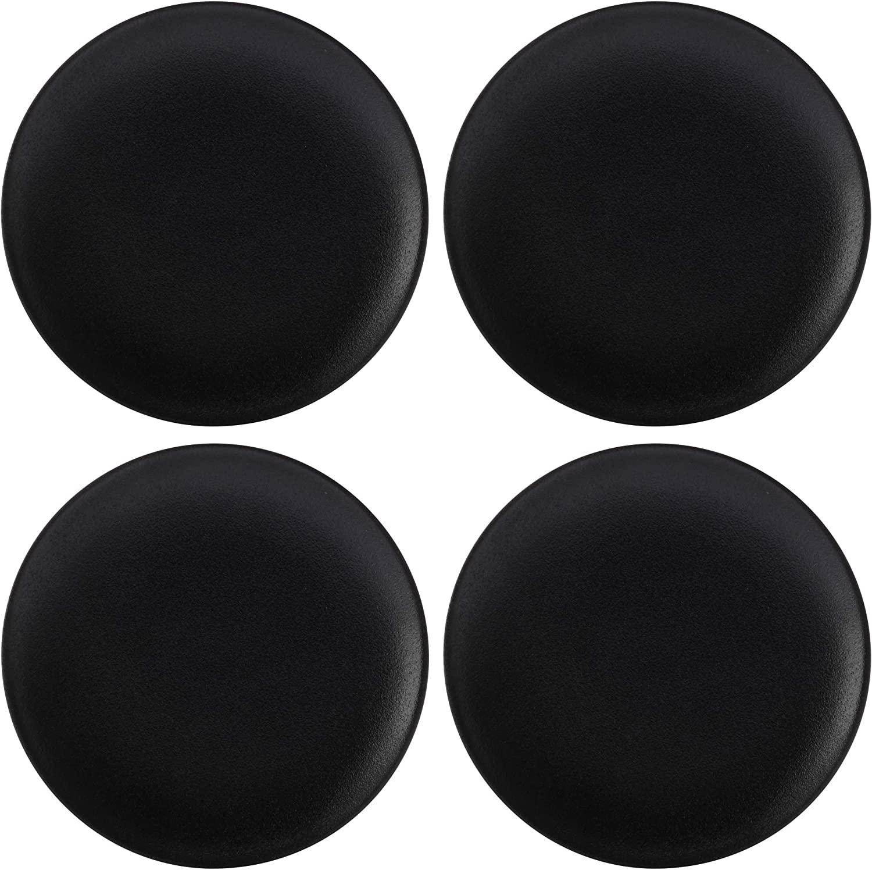 Maxwell Williams Assiettes /à dessert Motif mouchet/é Caviar Porcelaine 21 cm Noir