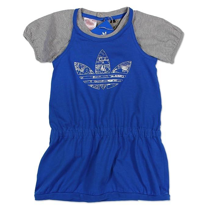 adidas Originals conjuntos para niñas vestido + Camiseta de verano vestido azul gris: Amazon.es: Ropa y accesorios