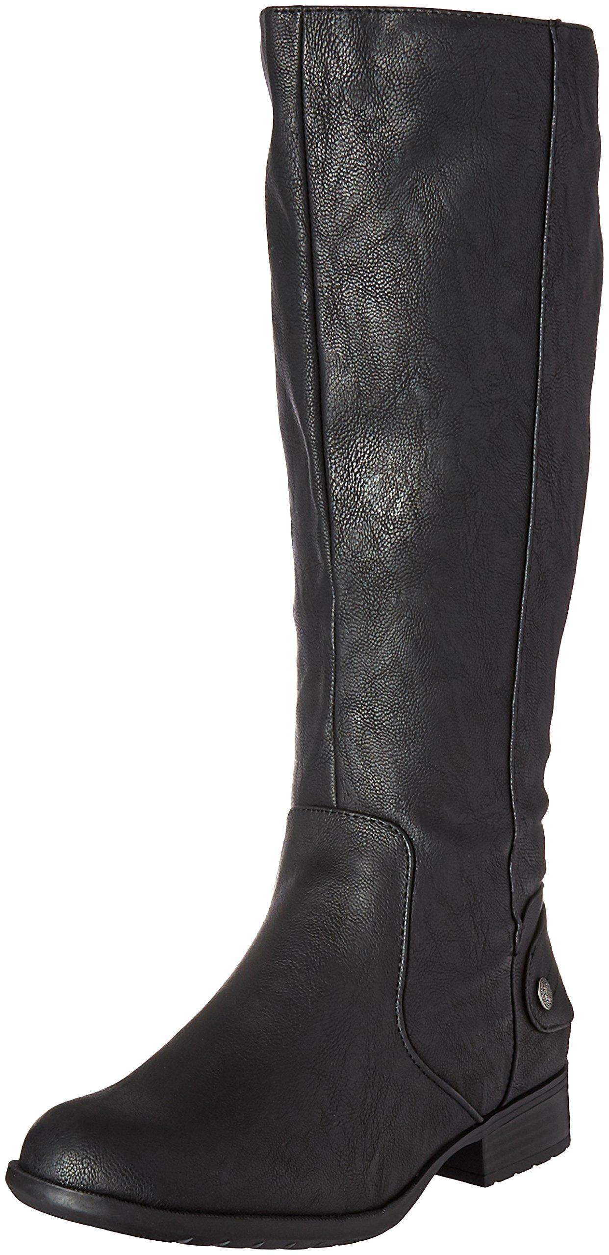 LifeStride Women's Xandy Riding Boot, Black, 9.5 W US