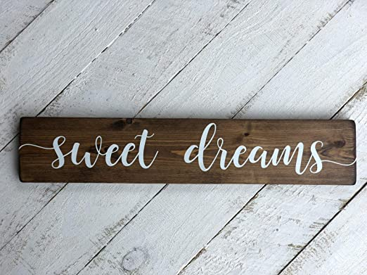 Zachrtroo Sweet Dreams - Cartel de Madera para decoración de ...