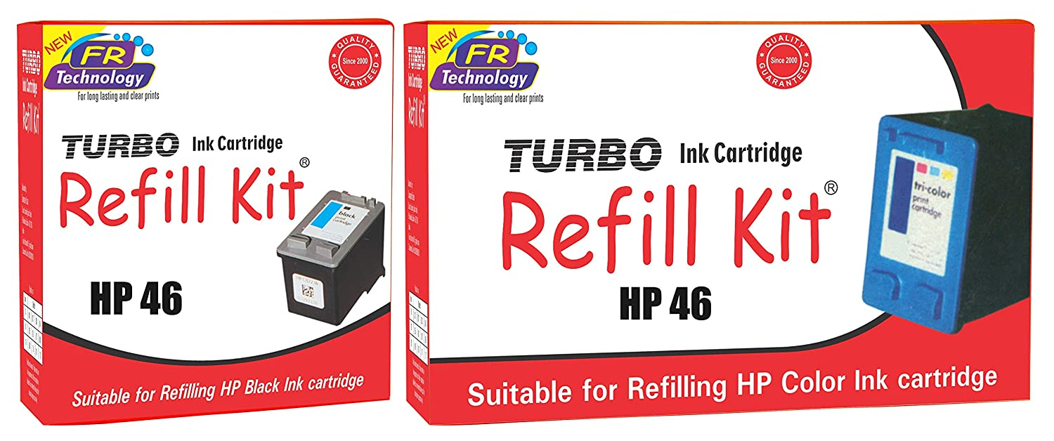 HP 46 Black and HP 46 Color Ink Cartridge Refill bd02caec26