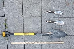 Spear Head Spade Reinforced Fiberglass Gardening Shovel With Cushioned D Grip