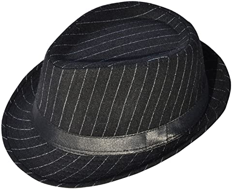 Simplicity Men Women Manhattan Structured Gangster Trilby Wool Fedora Hat c09ff8978a24