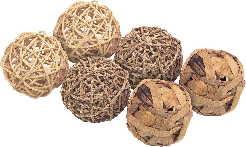 Rosewood Boredom Breaker - Juego de Bolas de Juguete para Animales pequeños, tamaño Mediano, 0,141998 kg