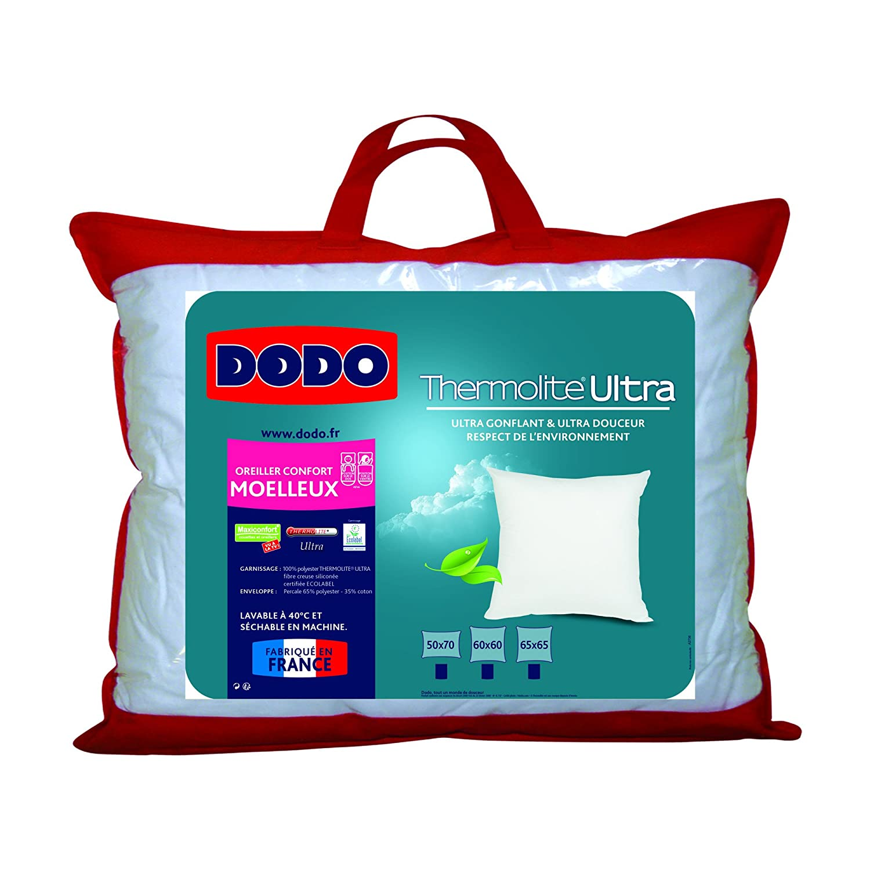 dodo oreiller Dodo Maxiconfort Ultra Oreiller Uni Classique Blanc 50 x 70 cm  dodo oreiller