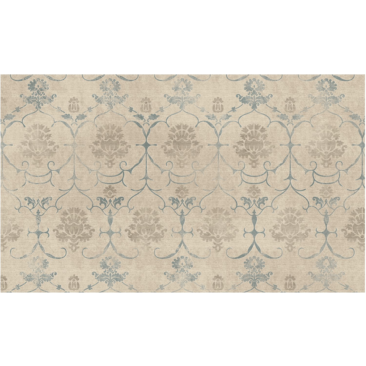 RUGGABLE 148247 Leyla Creme Vintage Washable Indoor/Outdoor Stain Resistant 3'x5' (36'x60') Accent Rug 2-Piece Set (Cover and Pad)