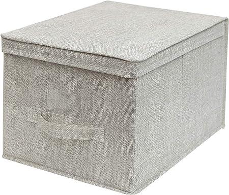 Cflagrant® Gran Caja de almacenaje Plegable Reforzado XL Dim: 30 x 40 x 25 cm con Tapa y asa: Amazon.es: Hogar