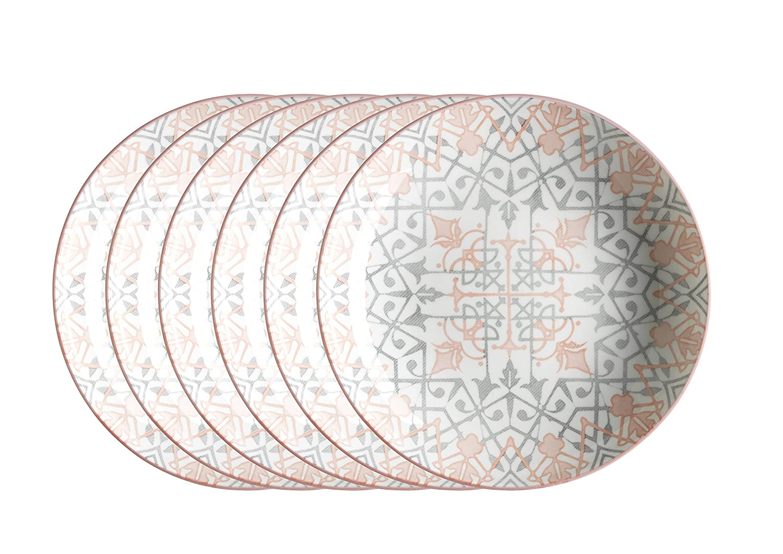 d/écor/é dans la Couleur Porcelaine 18/pi/èces pour 6/Personnes Orange 18/unit/és 48/x 40/x 25/cm Domestic by M/äser 931029/s/érie Saragosse Set Petit D/éjeuner