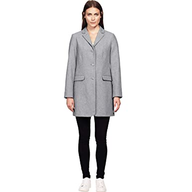 90d19db79ec Ellos Women s Plus Size Long Wool Blend Blazer at Amazon Women s ...