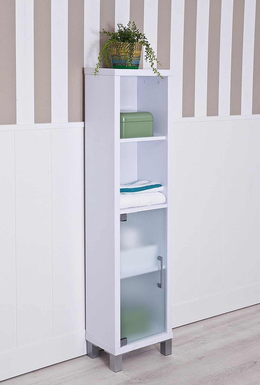 Intradisa 8902 - Badezimmerregal mit Drei Innenbrettern, Weiß