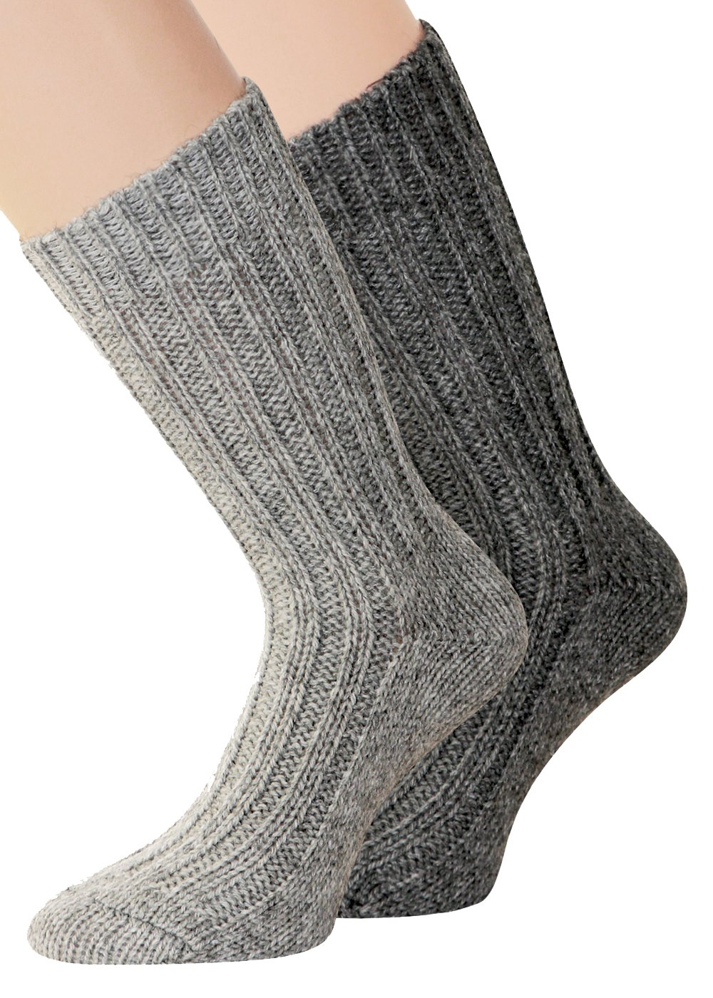 Alpaca Socks 2 Pairs Thick and soft with alpaca, Natural 2-501-F3A-2