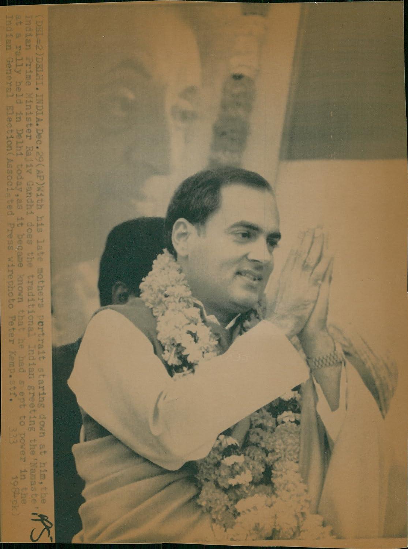Vintage Photo Of India Prime Minister Rajiv Gandhi Amazon Home