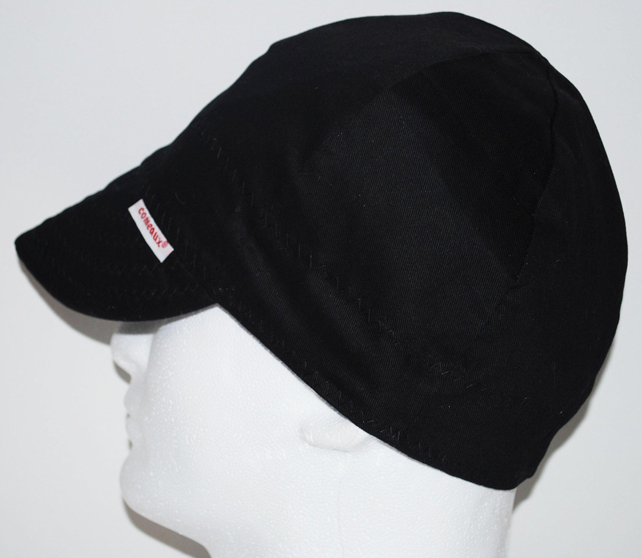 Comeaux Caps Reversible Welding Cap Solid Black 8