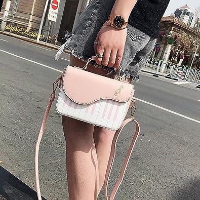 SODIAL Rosado nueva moda color de golpe bolso de impresion de piano dulce viento fresco hombro diagonal portatil pequeno bolso: Amazon.es: Zapatos y ...