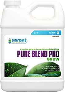 Botanicare BCPBPGQT Pure Blend Pro Grow Terpene Enhancing Base Nutrient Vegetative Formula, 1-Quart