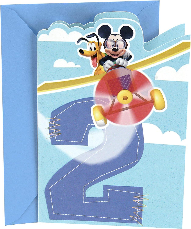 Brand New Sealed Hallmark Disney Signature Mickey Mouse Birthday Card