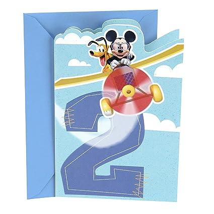 Amazon Hallmark 2nd Birthday Card Disney Mickey Mouse Office Products