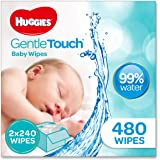 HUGGIES Gentle Touch Baby Wipes, 480 Pack