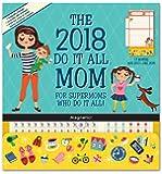 Orange Circle Studio 2018 Do It All Magnetic Wall Calendar, Aug. 2017 - Dec. 2018, Mom's Do It All