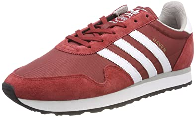 new arrival 5f4b1 f2e4f adidas Haven, Sneakers Basses Homme, Rouge (Mystery Red Footwear White Clear