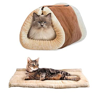 ToMill Cama para mascotas, plegable, suave, cálida, para ...