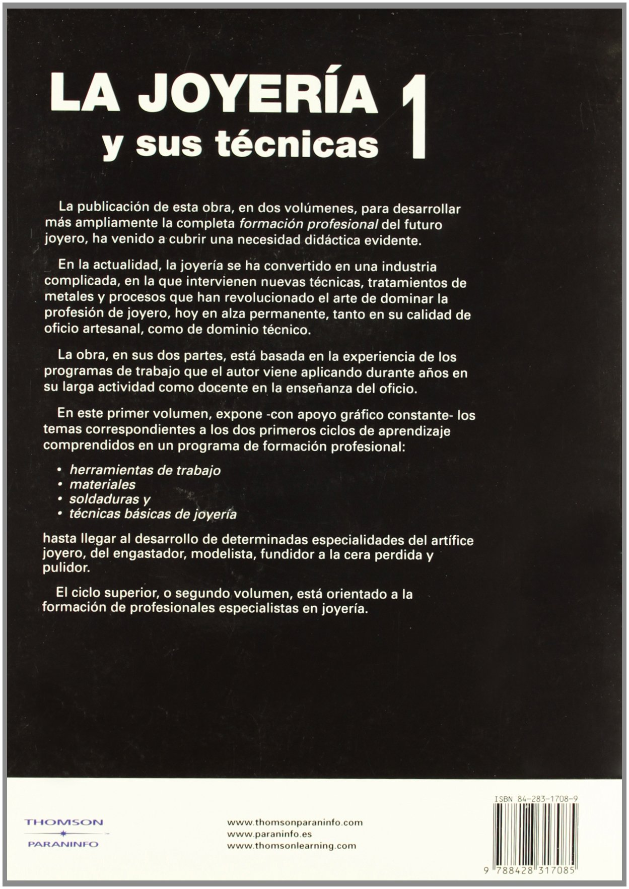 La Joyeria y Sus Tecnicas 1 (Spanish Edition): J. L. Llorente: 9788428317085: Amazon.com: Books