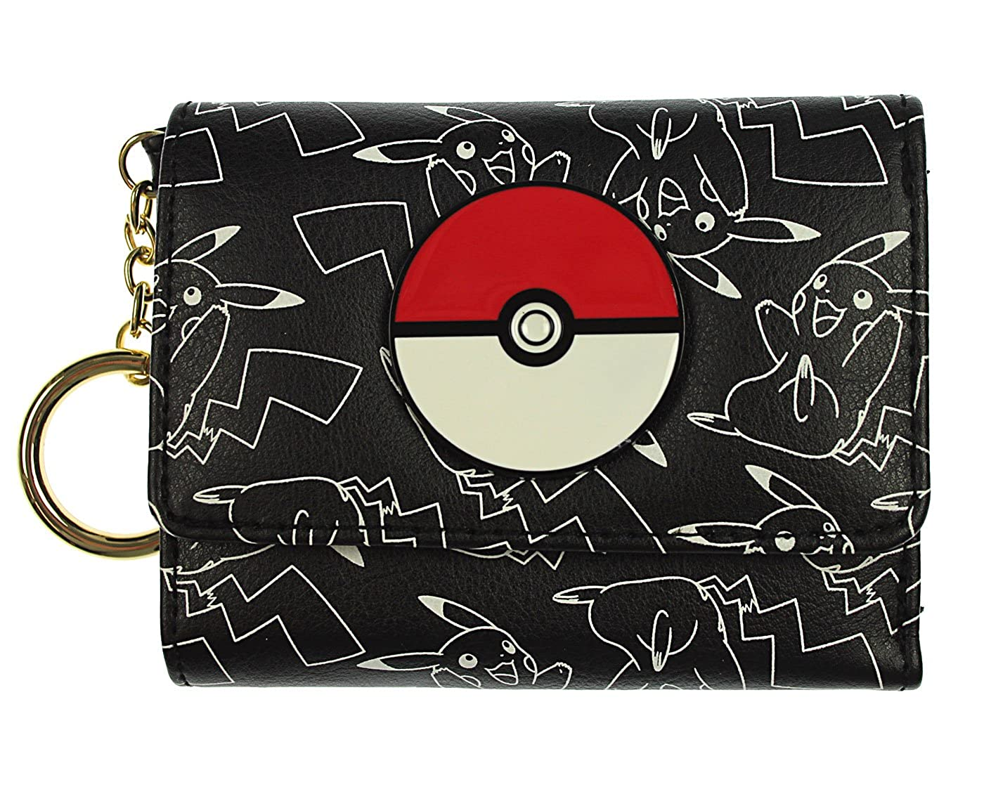 Bioworld Pokemon Pikachu AOP Mini Tri-Fold Wallet 2290415